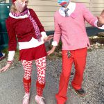 A picture of two very enthusiastic Davis Bay Elementary staff who never cease to amaze on dress up days!