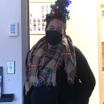 Teacher Melissa Kelly gets in the spirit at Chatelech Secondary