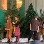 Coyote Solstice outdoor play/presentations by Reef and Rookery students at Davis Bay Elementary