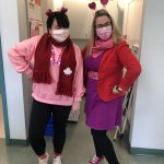Spirit knows no bounds at Cedar Grove Elementary - check out those bling shoes! Ms. Marquis and Ms. Cowan twinning.