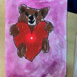 Teacher Seona Dalgleish at Roberts Creek Elementary made circuit Valentine Cards