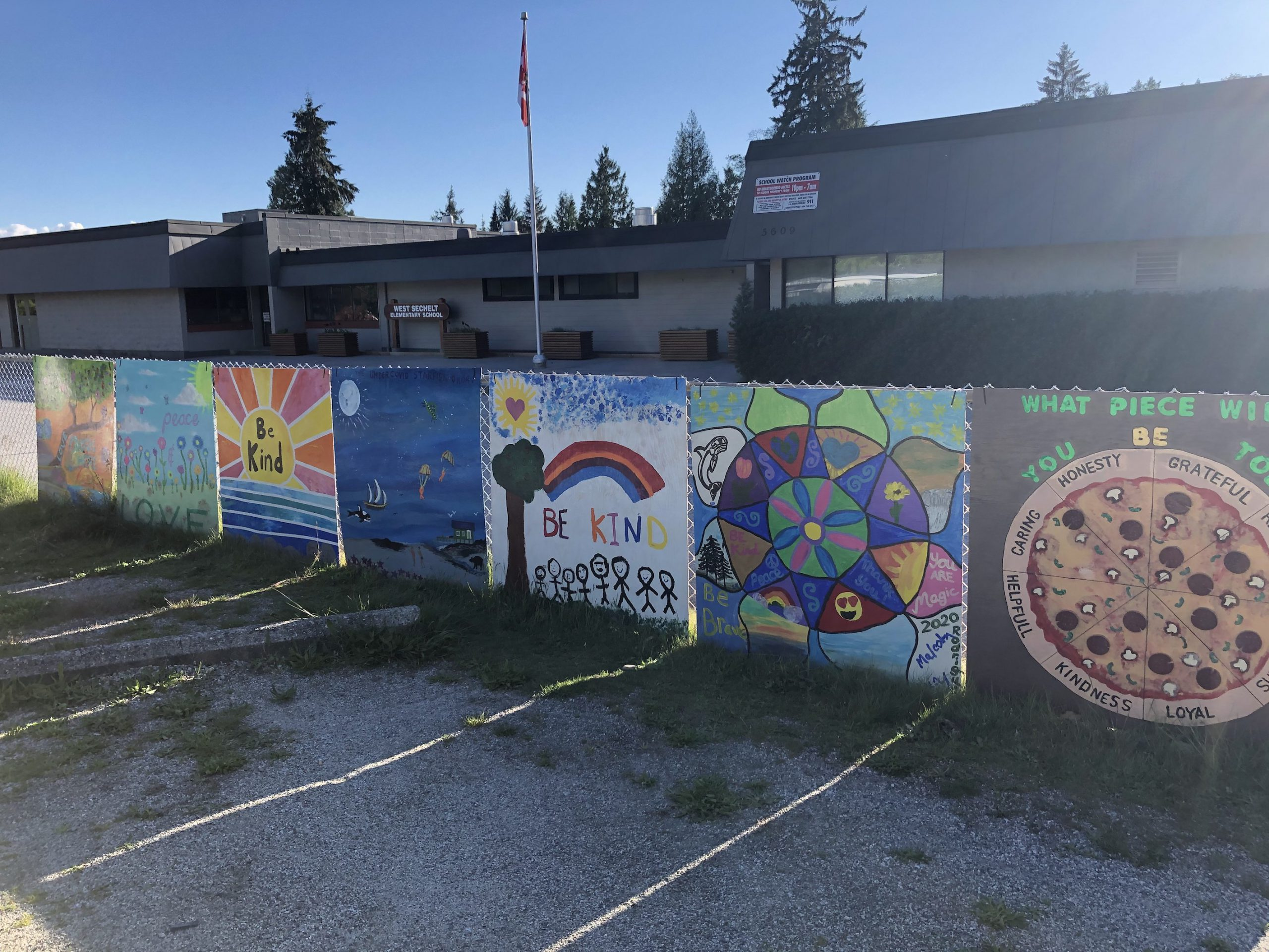West Sechelt Elementary Teacher Michelle Smart contacted Rona Coast Builders in Sechelt and they donated 30 4'x4' pieces of plywood for a community mural project. Here are the first 7!